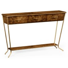 Argentinian Walnut Veneered Tapering Console