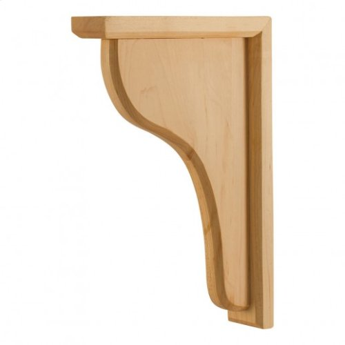 "2"" x 8"" x 12"" Wood Bar Bracket Corbel, Species: Rubberwood"