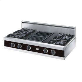 "Chocolate 42"" Open Burner Rangetop - VGRT (42"" wide, four burners 12"" wide char-grill)"