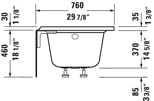 "White Architec Bathtub With Panel Height 18"""