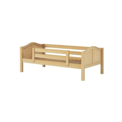 Daybed w/ Back and Front Safety Rails : Twin : Natural : Curved