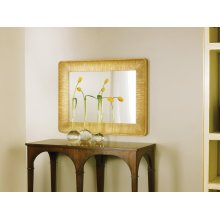Parisian Mirror, Carved Wood With Gold Textured Finish.