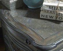 Marble Drawer Dresser - Smokey Oak Finish