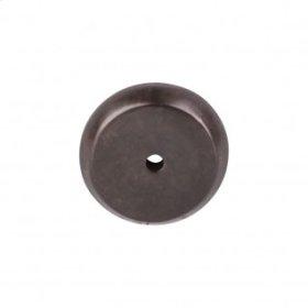 Aspen Round Backplate 1 1/4 Inch - Medium Bronze