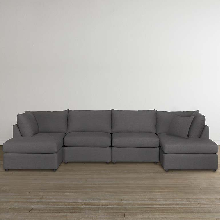 Beckham Double Chaise Sectional : bassett beckham sectional - Sectionals, Sofas & Couches