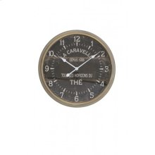 Clock 60x11 cm LAMAR dark grey
