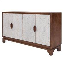 Romano Mozaic Sideboard 4 Doors, Rustic Ebony