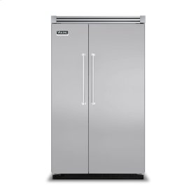 """Stainless Steel 48"""" Side-by-Side Refrigerator/Freezer - VISB (Integrated Installation)"""