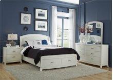 King Storage Bed, Dresser & Mirror, NS