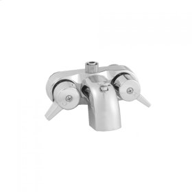 Polished Chrome - Diverter Bath Faucet to Fit Four-Legged Claw Foot Tubs