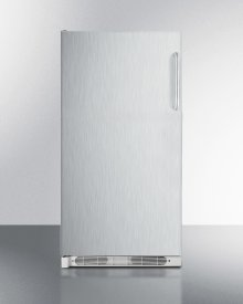 Large Capacity All-refrigerator With Frost-free Operation, Stainless Steel Door and Towel Bar Handles; Left Hand Door Swing