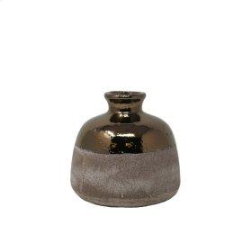 "Half Bronzed Vase 7.25"""