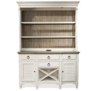 Myra Server Hutch Natural/Paperwhite finish Product Image