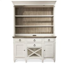 Myra Server Hutch Natural/Paperwhite finish