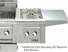 Double Side-Burners for cart mounted application (LCB2-2)