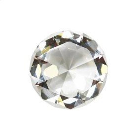 """Glass Diamond Decor, 4"""", Clear"""