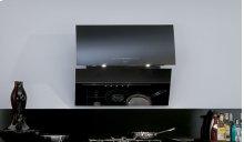 "36"" Black Glass Mirror Wall Range Hood"