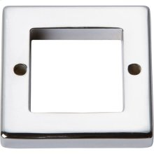Tableau Square Base 1 7/16 Inch - Polished Chrome