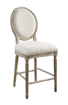 Barstool W/upholstered Seat & Back-white Linen#anna Yt Rta