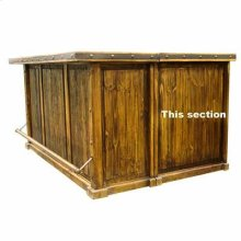 """Laguna Bar Side For """"L"""": 31"""" x 12"""" x 41"""" Laguna Bar with 2 pc. Bar Back and Optional Side Extension"""