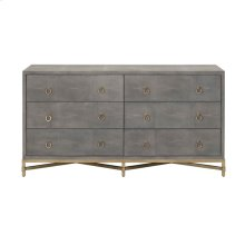 Strand Shagreen 6-Drawer Double Dresser