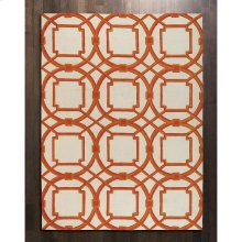 Arabesque Rug-Coral-5' x 8'