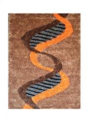 Design Dark Brown - Orange Grey Silk & Polyester (pile Weight 1700g/sqm Pile Height 3.5CM, 2.5CM,1.5CM) Product Image