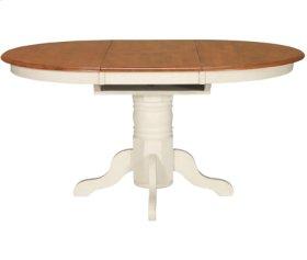 Butterfly Ext. Pedestal Table Heritage Oak & Pearl