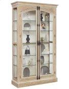Cremone Closure 5 Shelf Curio Cabinet in Birch Brown Product Image