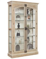 Cremone Closure 5 Shelf Curio Cabinet in Birch Brown Product Image