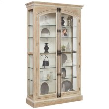 Cremone Closure 5 Shelf Curio Cabinet in Birch Brown