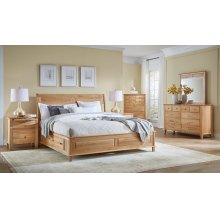 Cal. King Panel Storage Bed