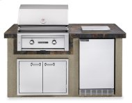 """The Falcon Gray 30"""" Sedona Island Package includes Sedona 30"""" Grill with ProSear, Sedona Refrigerator, Single Side Burner and Double Doors (L1500G)"""
