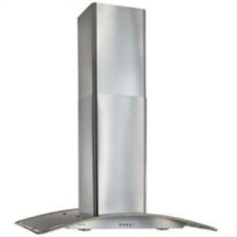"Broan 450 CFM 36"" Island Chimney Hood in Stainless Steel"