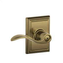 Accent Lever with Addison trim Bed & Bath Lock - Antique Brass