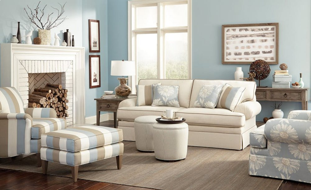 Hidden · Additional Craftmaster Living Room Stationary Sofas, Two Cushion  Sofas