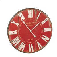 Red Wall Clock. Product Image