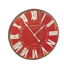 Red Wall Clock.