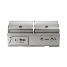 "50"" Hybrid Gas and Charcoal Grill"