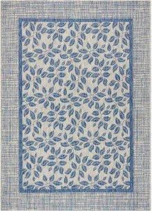Country Side Ctr01 Ivory Blue Rectangle Rug 5'3'' X 7'3''