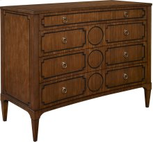 Artisan Curved Front Chest w/Drawer Overlay - Mah