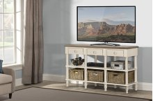 Seneca Sofa Table - Sea White With Driftwood Top