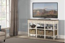 Seneca Sofa Table - Sea White With Driftwood Top