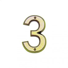 "6"" House Number - HN603 White Bronze Medium"