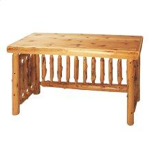 Open Writing Desk - Natural Cedar