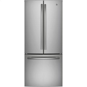 Bottom Mount Refrigerator 20.8 Cu. Ft. Stainless Steel GE - GNE21DSKSS