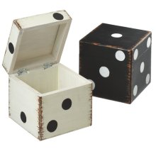 Vintage Dice Storage Box (2 asstd)
