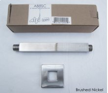 "AB8SC 8"" Square Ceiling Mounted Brushed Nickel Shower Arm for Rain Shower Heads"