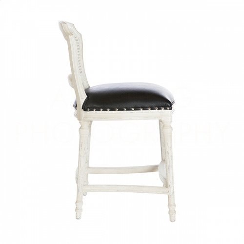 Chelsea Cane Back Leather Counter Stool