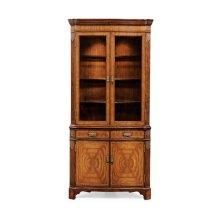 Serpentine Walnut Corner Cabinet
